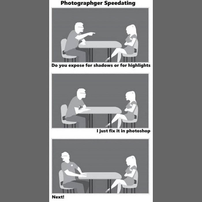 funniest photography memes - photographers speed dating