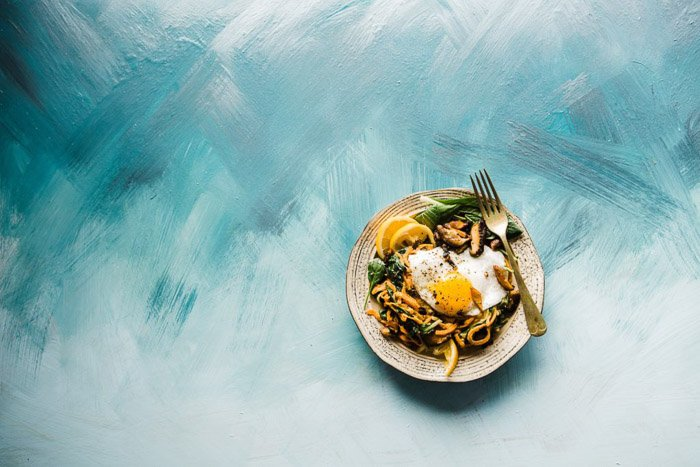 Food photography shot on a painted background - how to build a website for photography