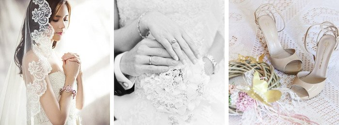 An example of a wedding photography website
