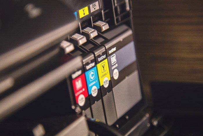 CYMK color ink in a printer - photoshop color mode