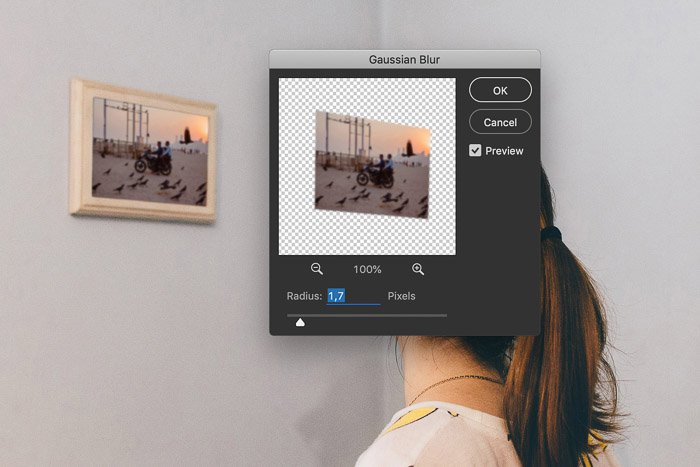How to Use Photoshop Smart Objects - gaussian blur