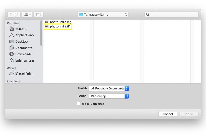 How to Use Photoshop Smart Objects - locate your file