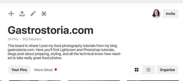 A screenshot of pinterest photography keywords