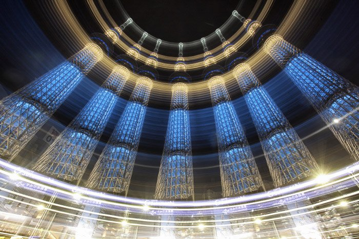 Magical photo of an architectural interior shot using slow shutter speeds