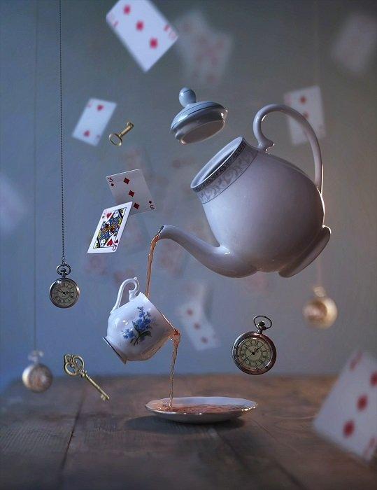 A levitating tea party