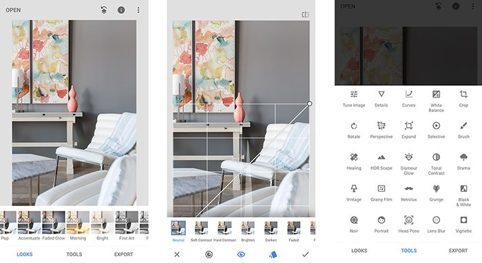 A smartphone screenshot of editing photos on Instagram - how to take cool instagram pictures
