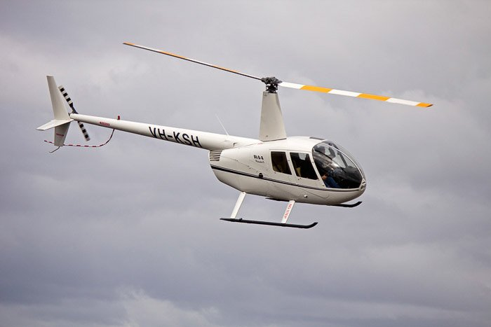 A helicopter in mid flight - abstract aerial landscape photos