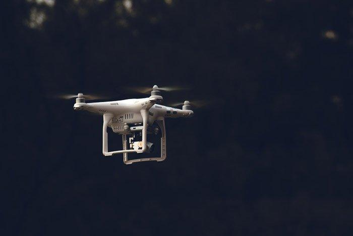 A drone in mid flight
