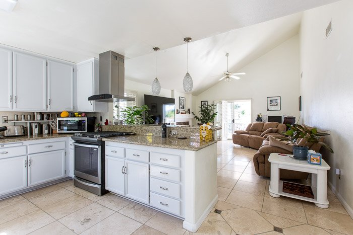 A bright and airy kitchen interior photography for real estate
