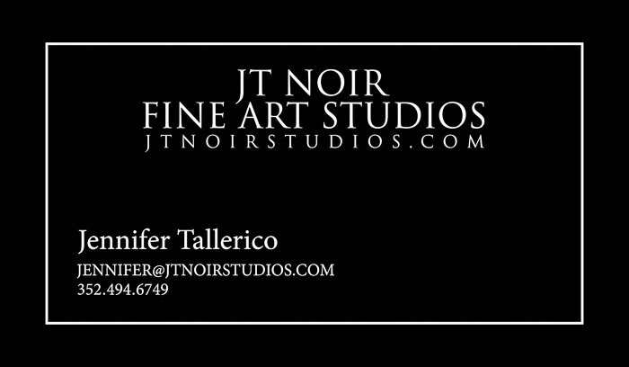 An example of boudoir photography business cards