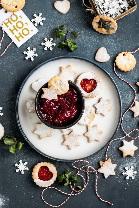 A festive themed still life using creative cookie photography