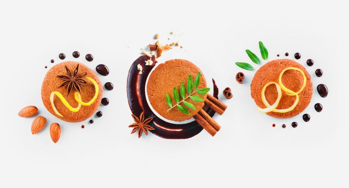 Bright and airy food flat lay using cookie photography