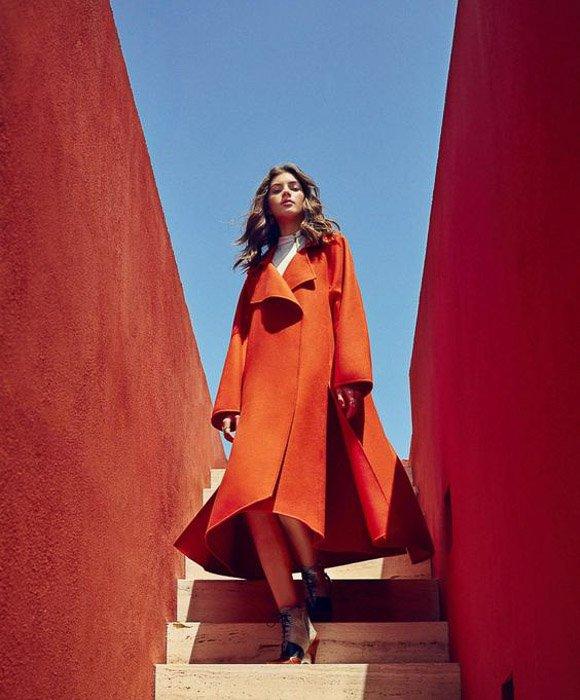A portrait of a female fashion model by Daniel riera