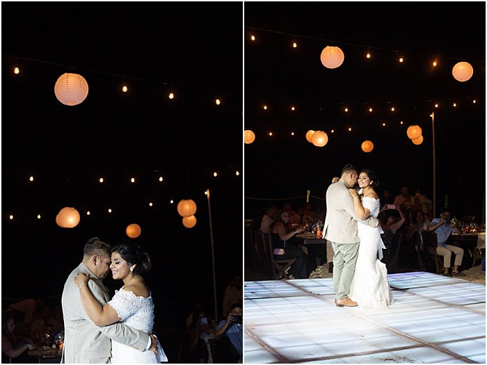 A wedding portrait diptych of the couple dancing - wedding flash photography