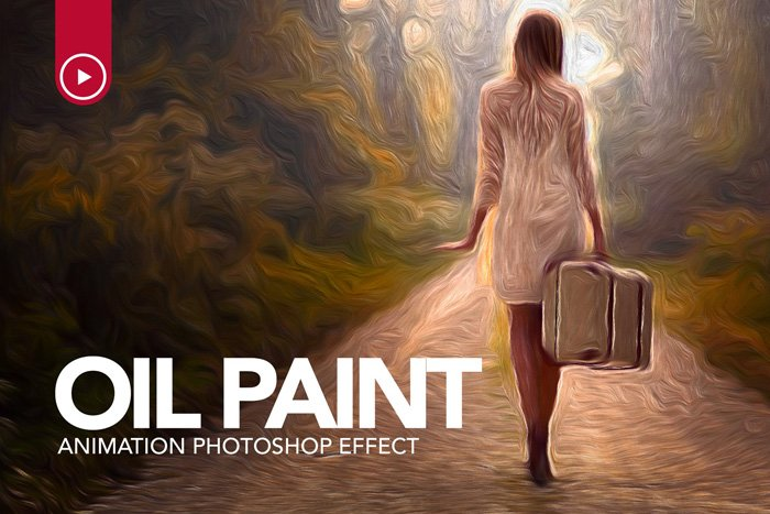 screenshot of Oil Paint Animation Photoshop Effects - Best Photoshop Filters