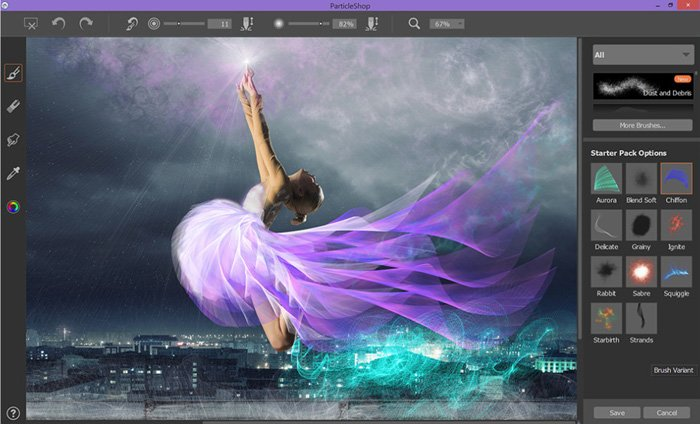 screenshot of Particle Shop interface - Best Photoshop Plugins