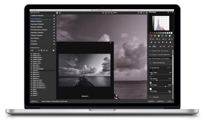screenshot of B&W effects interface - Best Photoshop Plugins