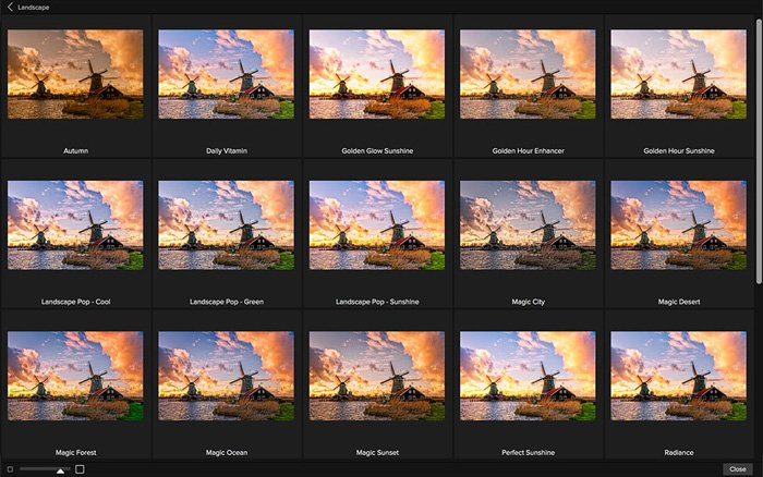 screenshot of ON1 Effects interface - Best Photoshop Plugins