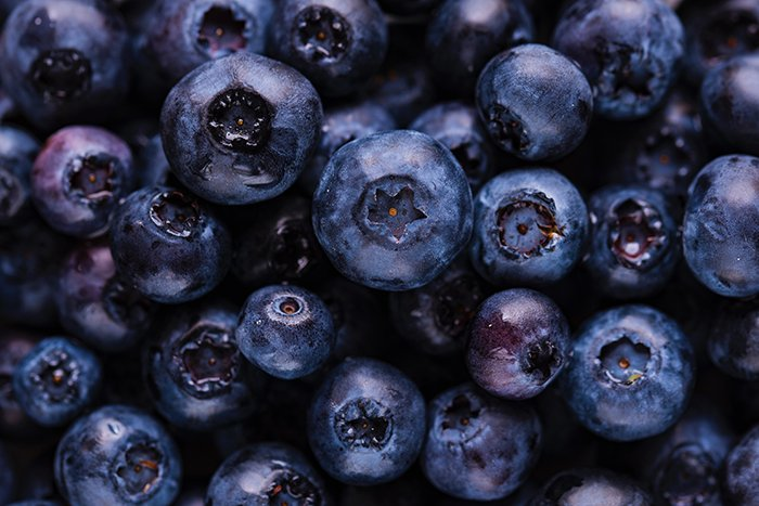 Close up photo of blueberries - colorful photography ideas