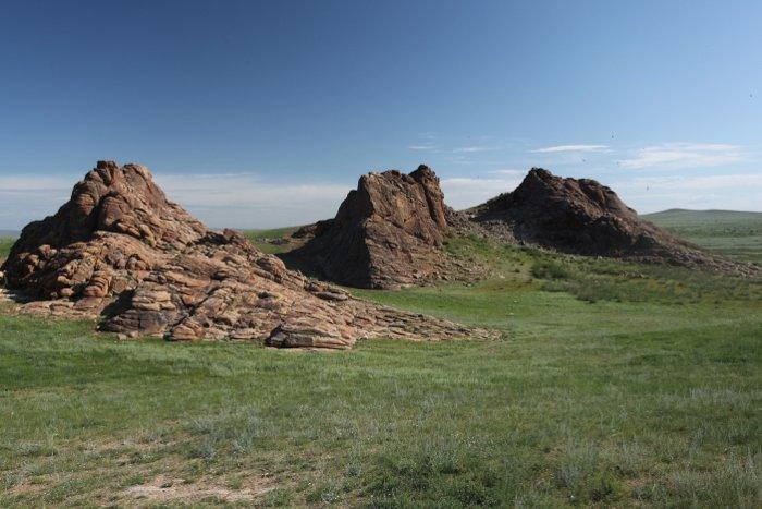 Rocky landscape shot from a national park