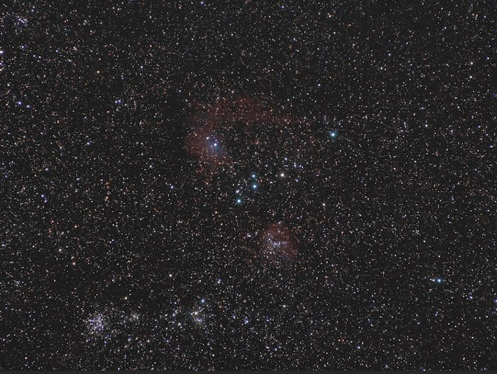 Flame Star Nebula in Auriga. - how to edit astrophotography in Photoshop