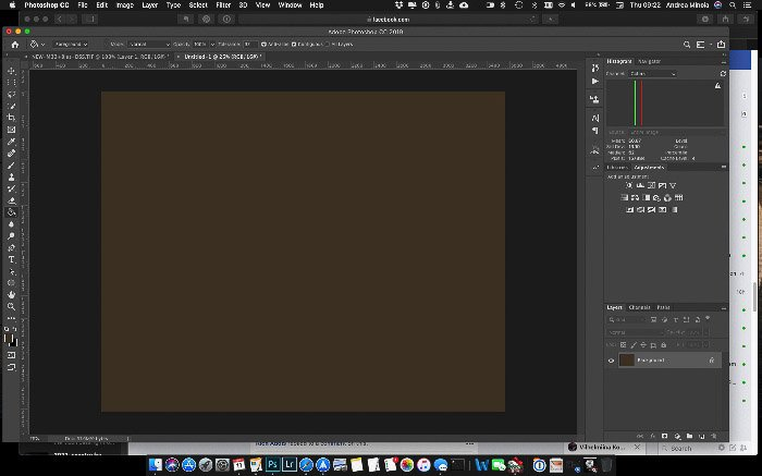 A screenshot showing how to use the Eyedropper Tool to Fix the Background in an image of the M33 galaxy - astrophotography Photoshop editing tips