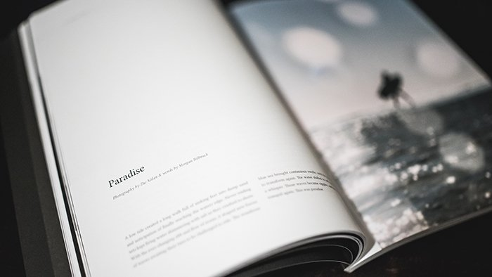 Ann artistic photobook with text on a table - how to make your own photo book to make your own photo book