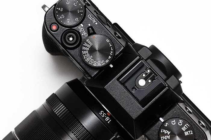 An overview of a DSLR camera - the burst mode settings on this camera in the lower right corner of this image.