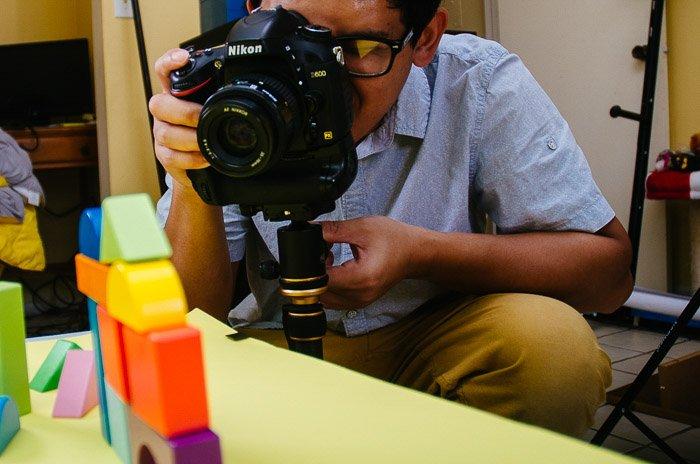 a diy photo studio setup