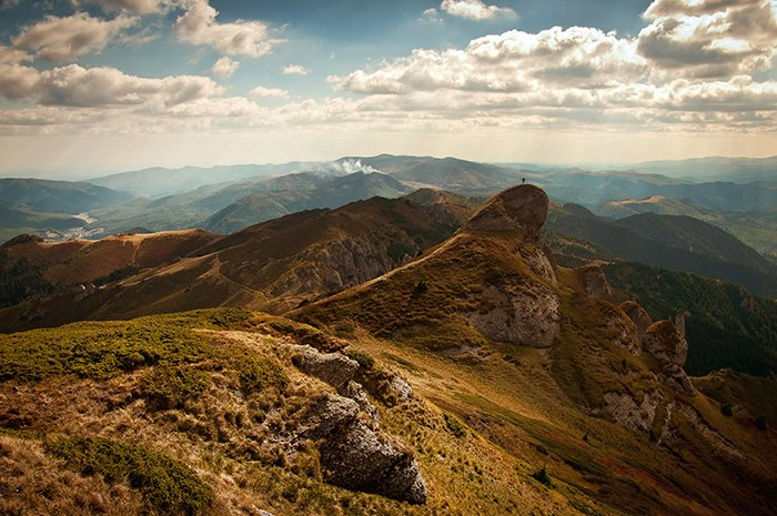 A stunning mountainous landscape shot in good quality of light for the day