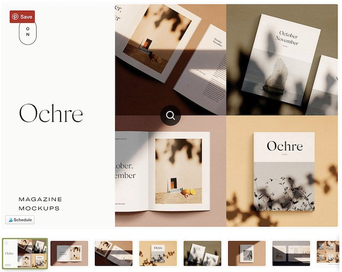 A screenshot of a product photographers website