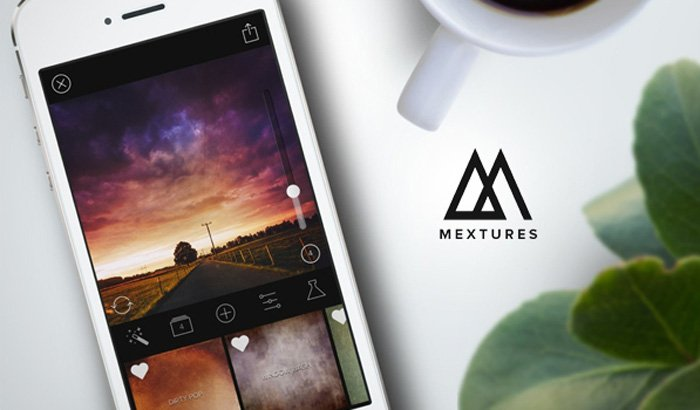 A screenshot of the Mextures app for adding textures to photos