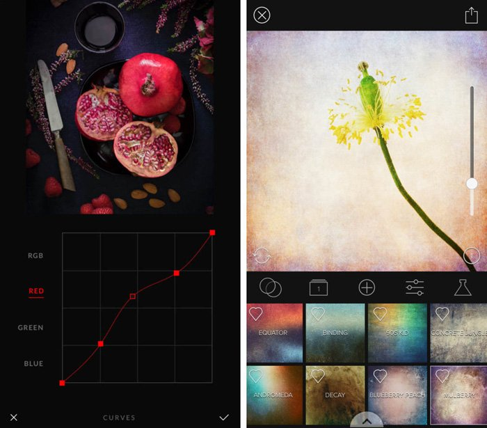 A screenshot of the Shift app for adding textures to photos - best texture app