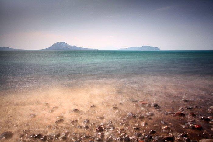 Serene view of Anak Krakatoa volcano -volcano and lava photography