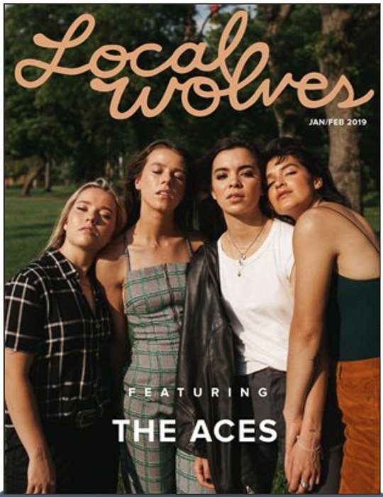 The cover of Local Wolves magazine for photography submissions