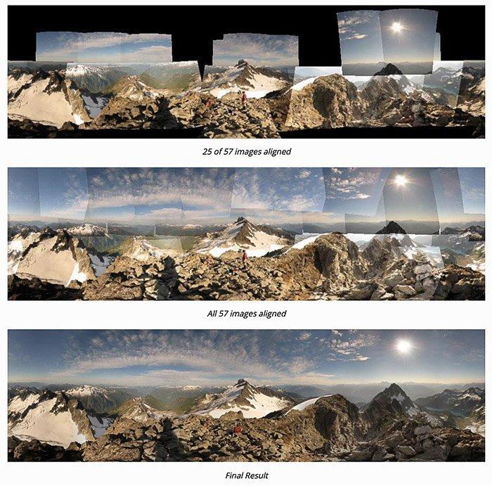 Autostitch photo stitching software interface
