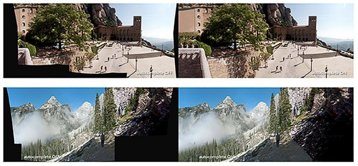 Screenshot of making panoramas with Image Composite Editor (ICE) - best photo stitching software