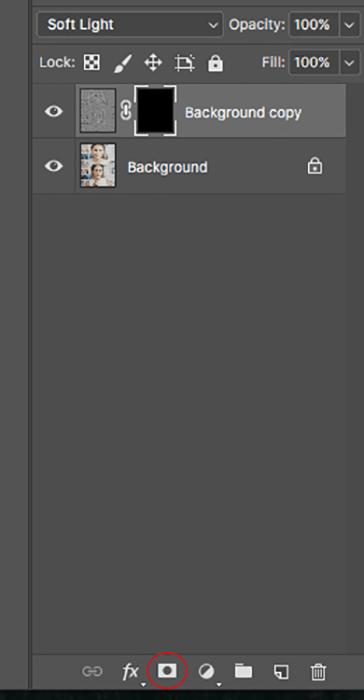 Screenshot of editing a makeup photography shoot in Photoshop