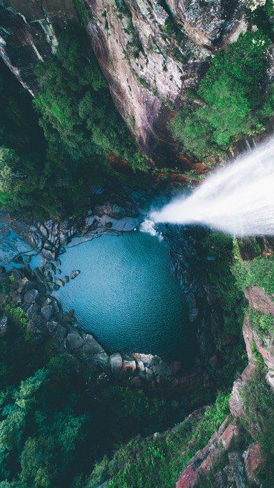 a stunning aerial landscape photos