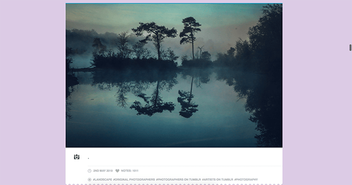 A screenshot from the Photos by Gerardo Tumblr photography blog