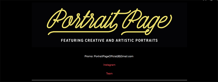A screenshot from the Portrait Page Tumblr photography blog