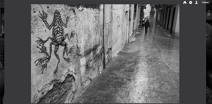 A screenshot from the Spain Street Photography Tumblr photography blog