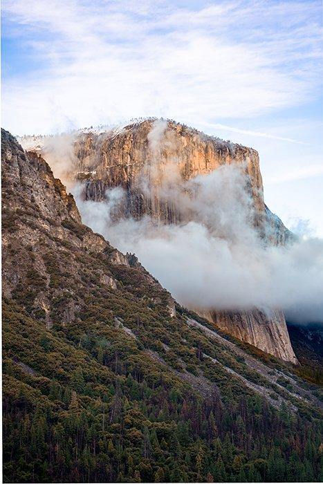 El Capitan rock formation in Yosemite national park