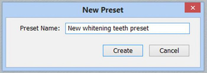 A screenshot showing how to whiten eyes and teeth in Lightroom - new preset