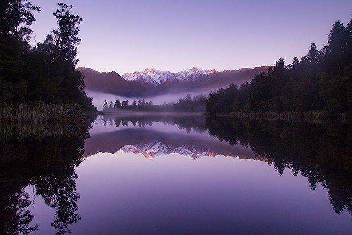 Lake Matheson, New Zealand landscape photography