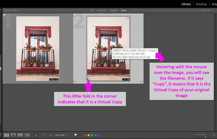 A screenshot showing how to make sepia tone images in Lightroom