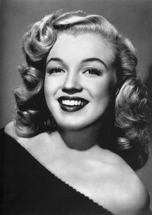 black and white vintage portrait of Marilyn Monroe