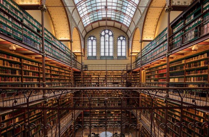 The interior of the Rijksmuseum in Amsterdam