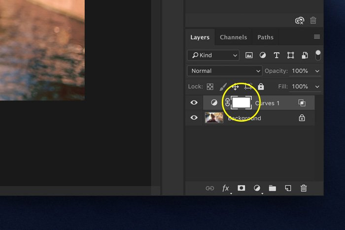 a screenshot showing layer mask in Photoshop