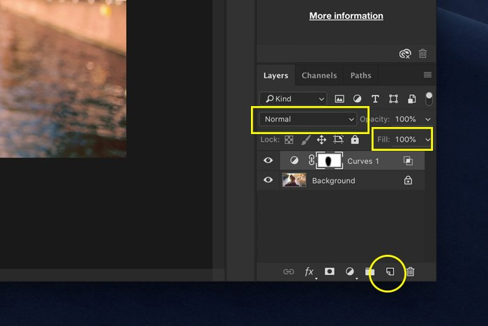 a screenshot showing how to use blending mode in Photoshop